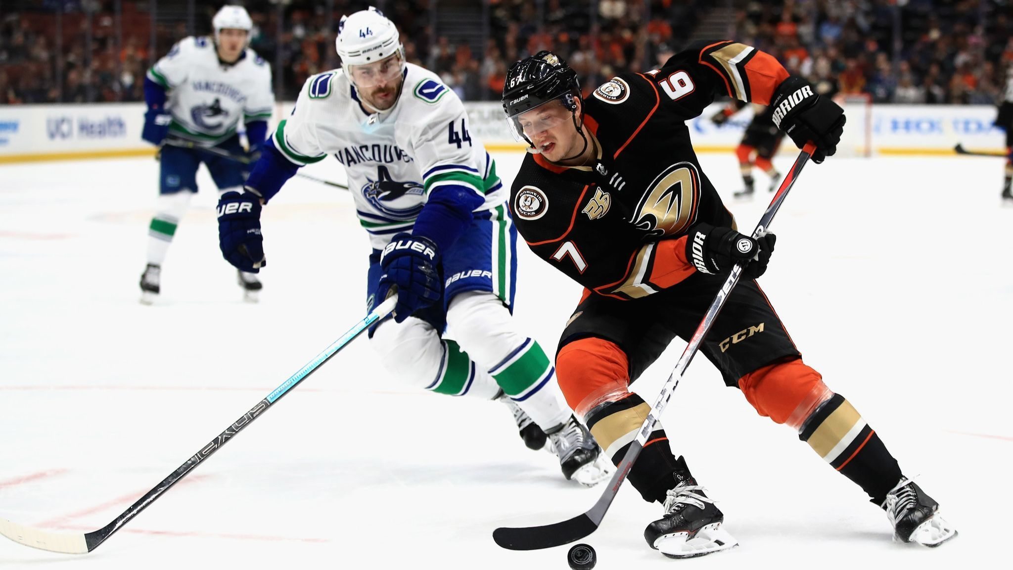 Goalie John Gibson is shaky in first game back, but Ducks hang on for victory over Canucks