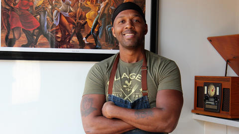 Chef and co-owner Darnell Reed at Luella's Gospel Bird in the Bucktown neighborhood of Chicago.