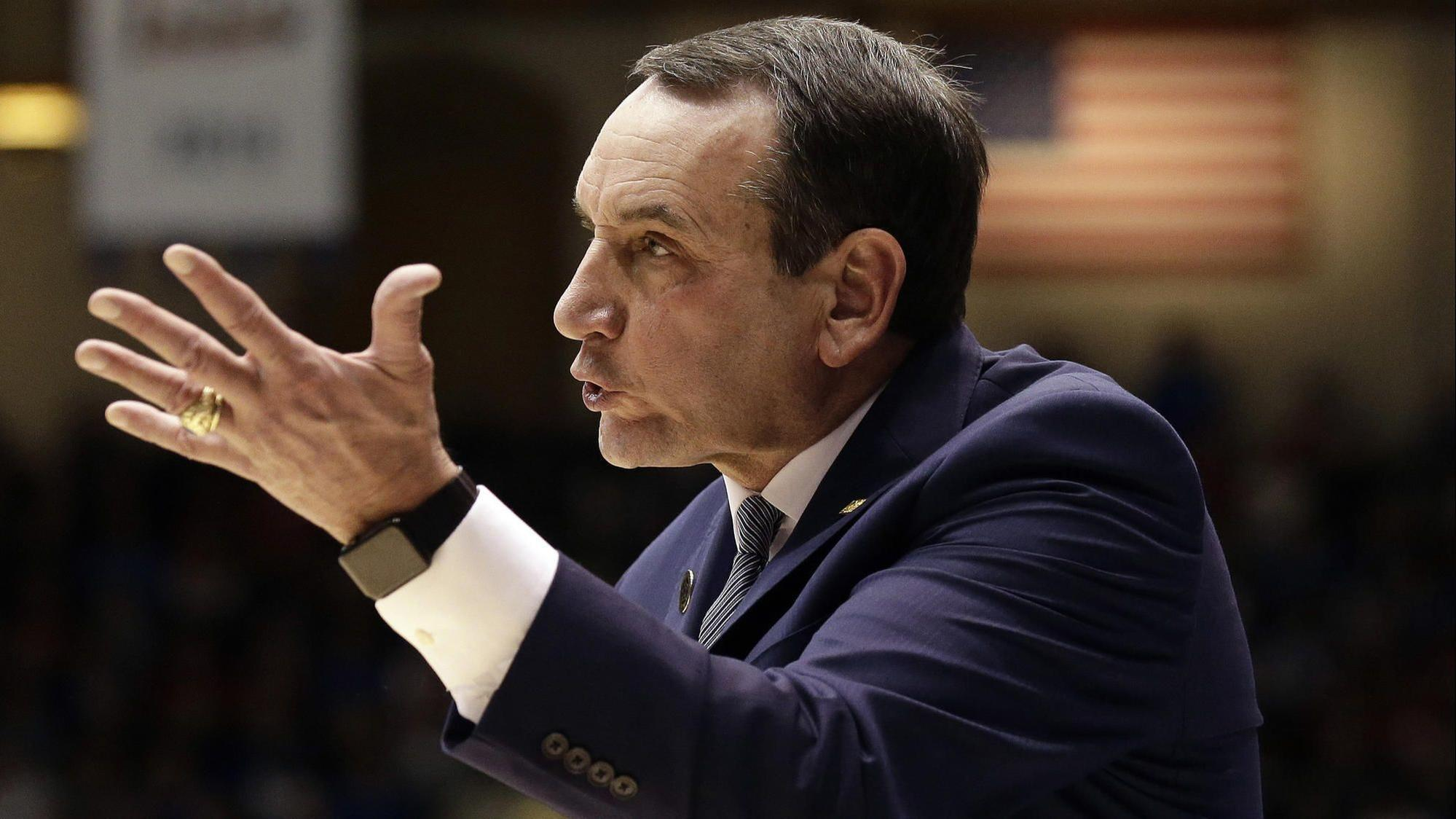 Mike Krzyzewski to Duke fans criticizing his players after loss to Gonzaga: 'Just cut it out, man'
