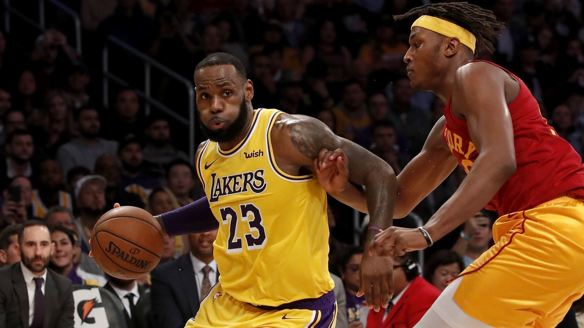 Lakers' LeBron James takes over in 104-96 victory over short-handed Pacers