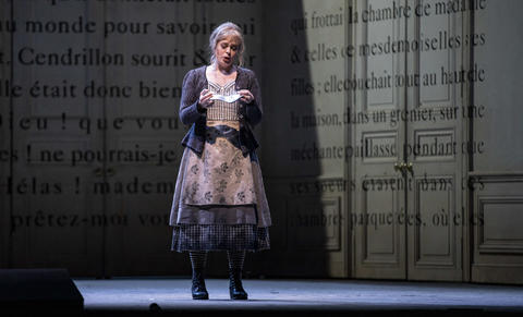 """Siobhan Stagg as Lucette (Cendrillon) performs with the glass slipper in a dress rehearsal Wednesday, Nov. 28, 2018 of Massenet's """"Cendrillon"""" at the Lyric Opera. (Brian Cassella/Chicago Tribune)"""