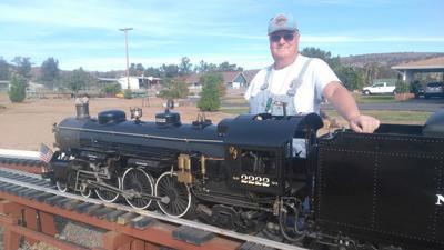 Train buff offers holiday rides on mini railroad