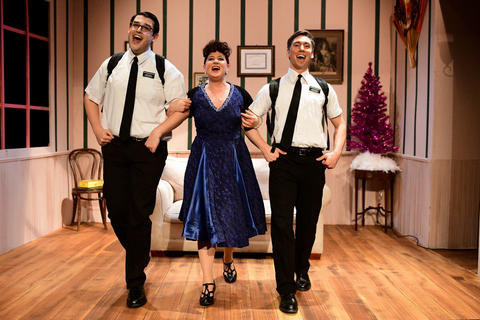 "Michael Idalski, Nicole Frydman and Sam Massey in Flying Elephant Productions' revival of  ""The Book of Merman."""