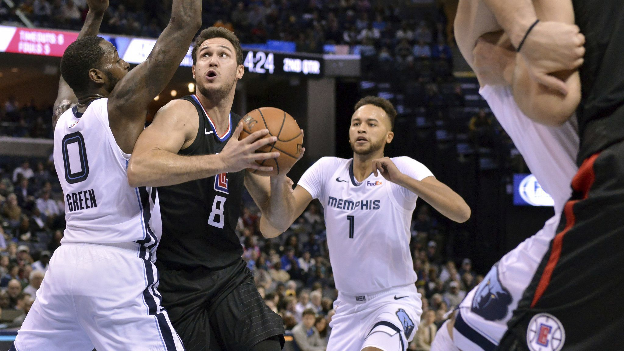 Clippers' poor offensive performance results in 96-86 loss to Grizzlies