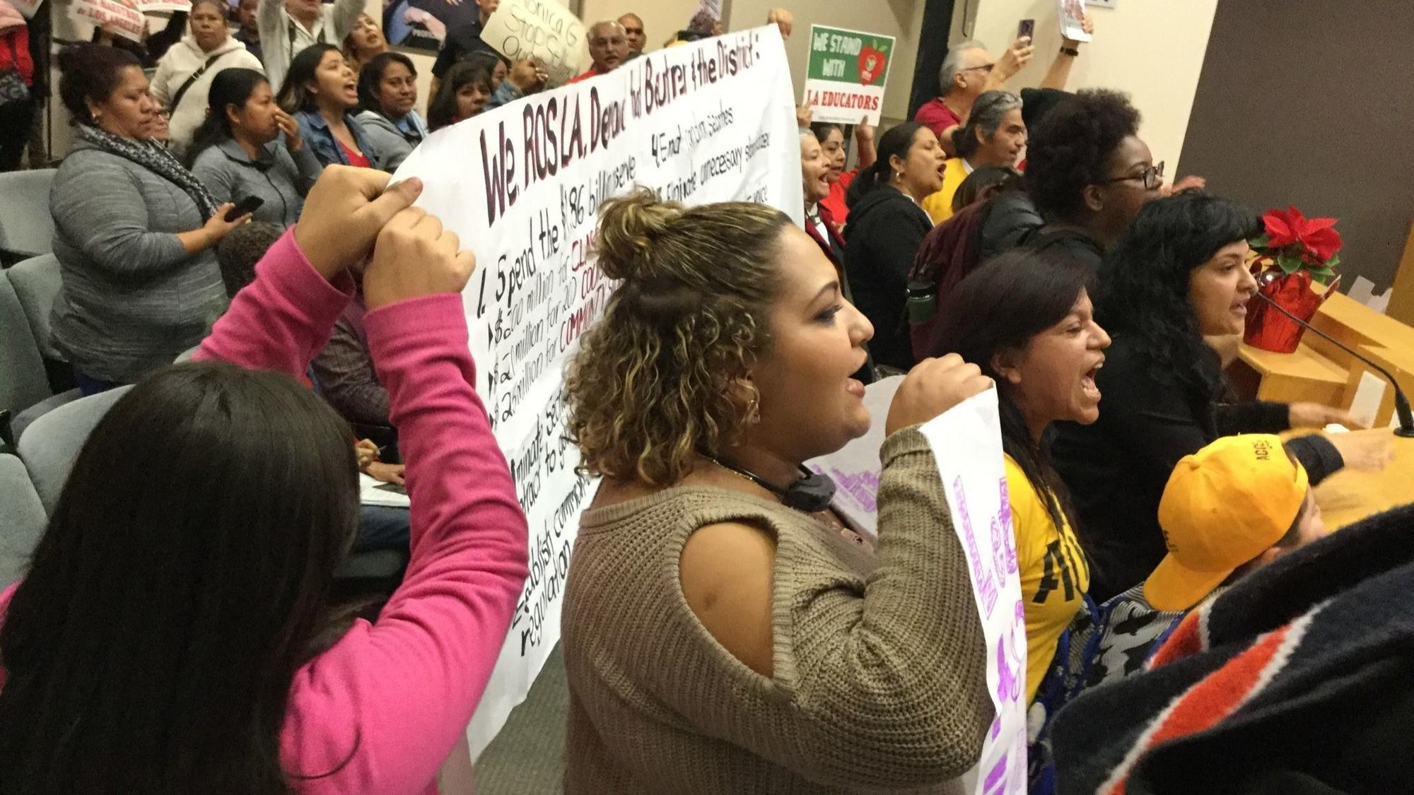 Protesters shut down Los Angeles Board of Education meeting