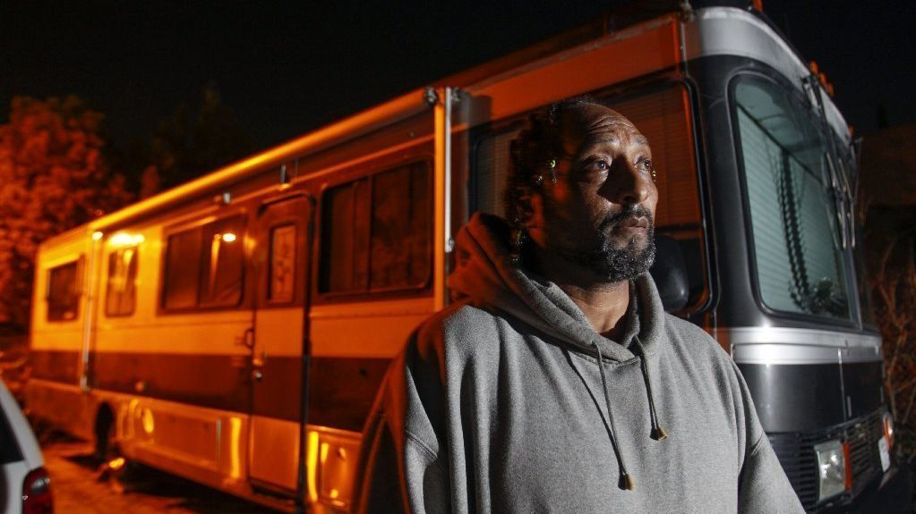Homeless move into first safe parking lot for RVs