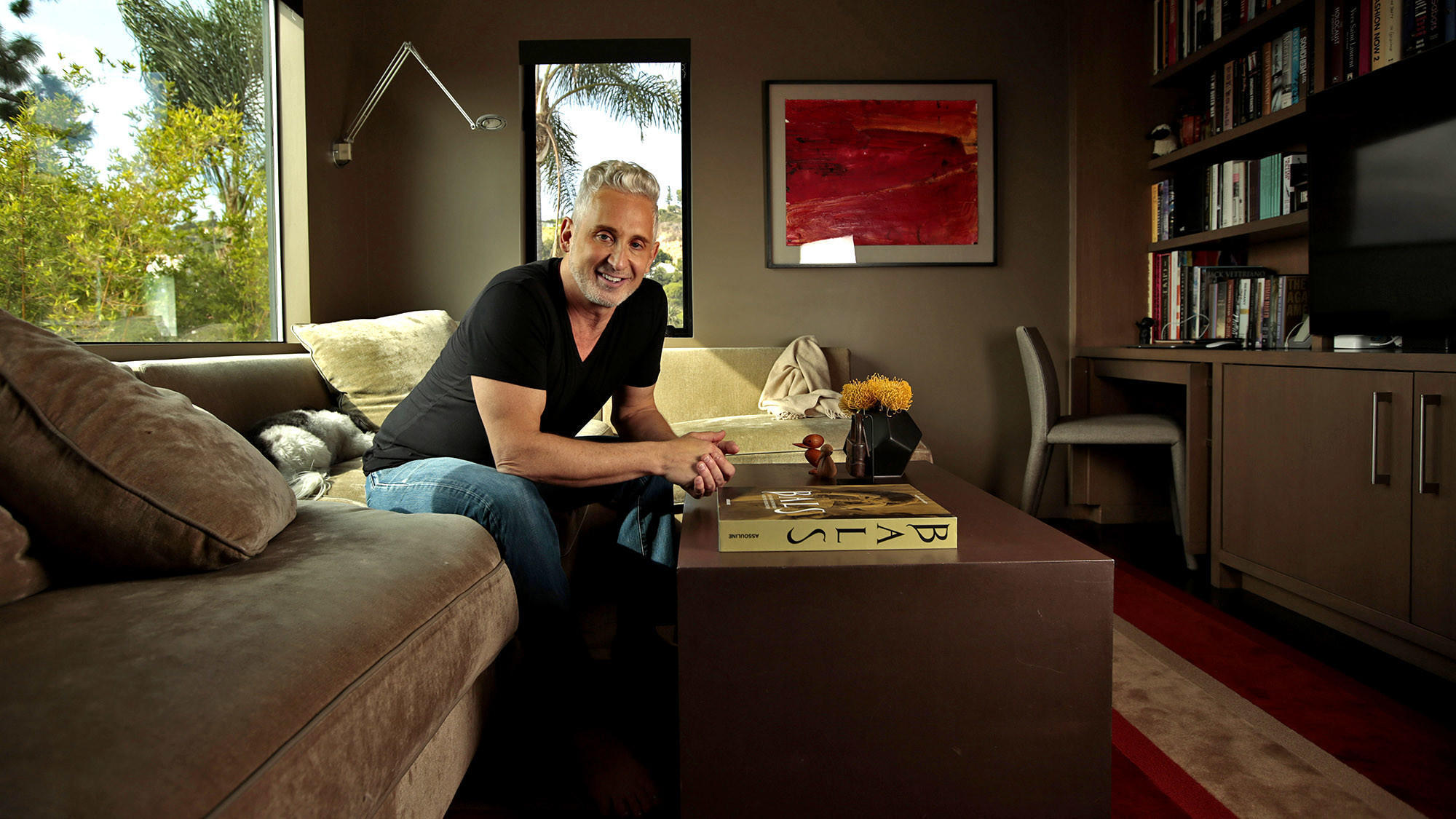 My Favorite Room: Fashion designer David Meister's packed den gets an exemption from minimalism
