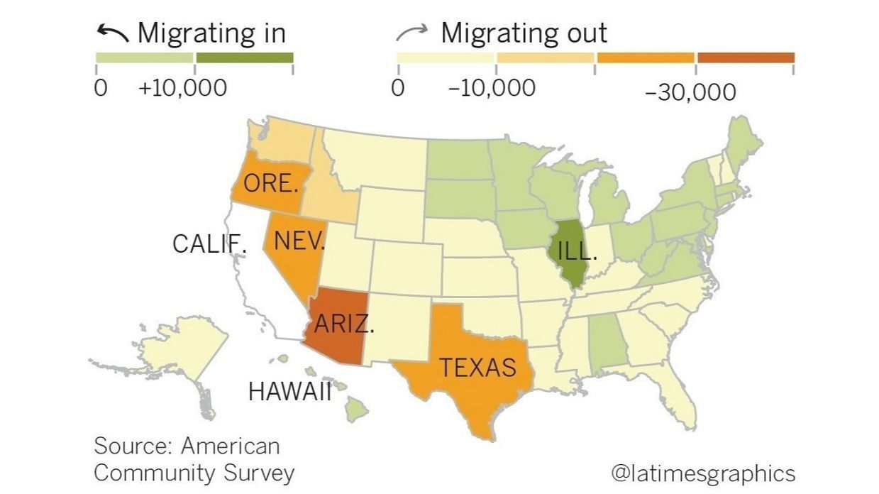 Californians move here from Illinois and leave for Arizona: Migration data shows trends