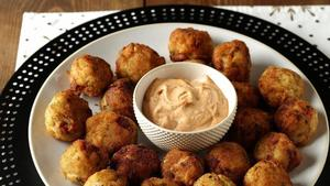 keep new years casual with sauerkraut fritters and cheesy baked spaetzle