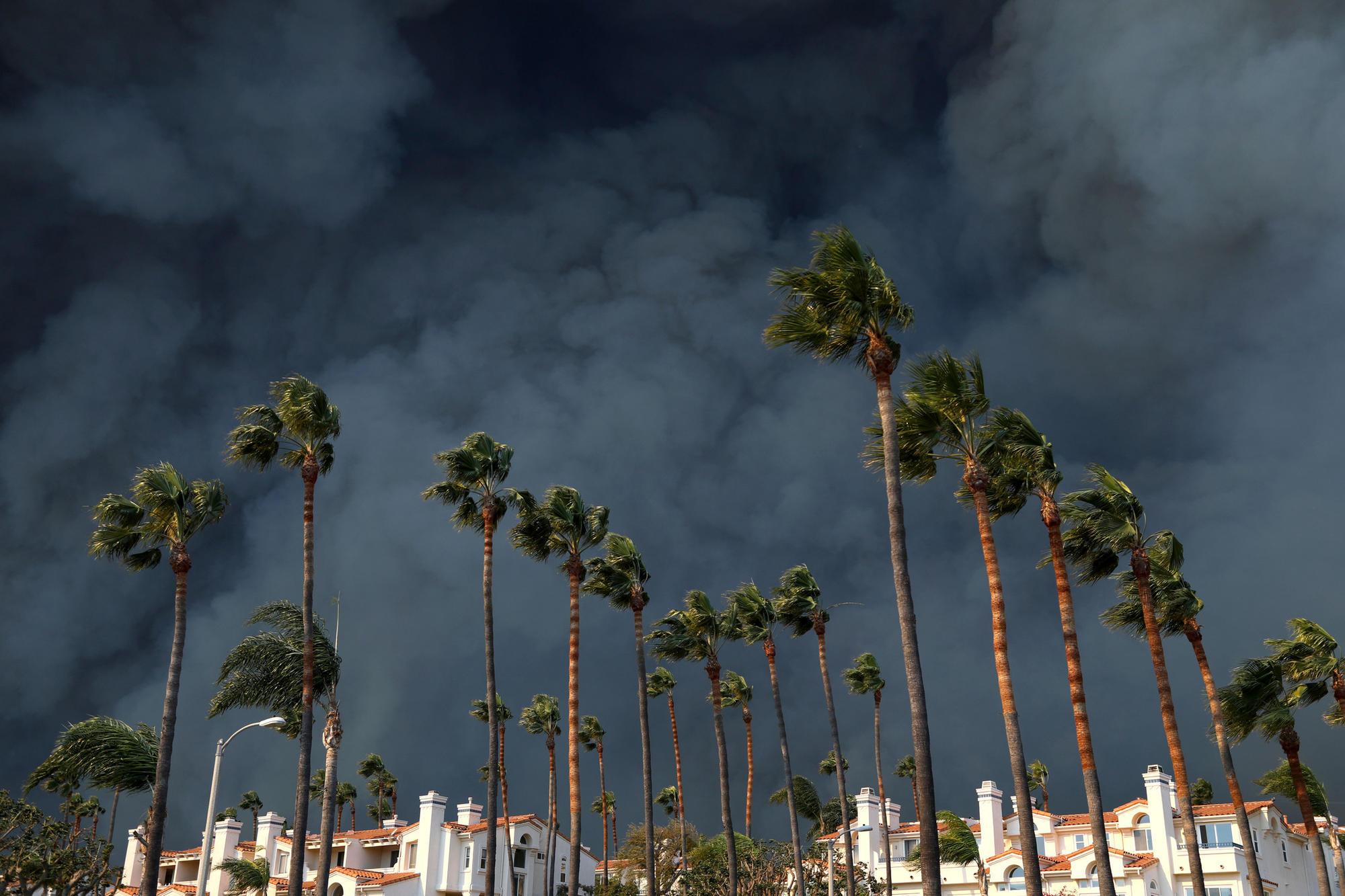 Woolsey fire in Malibu