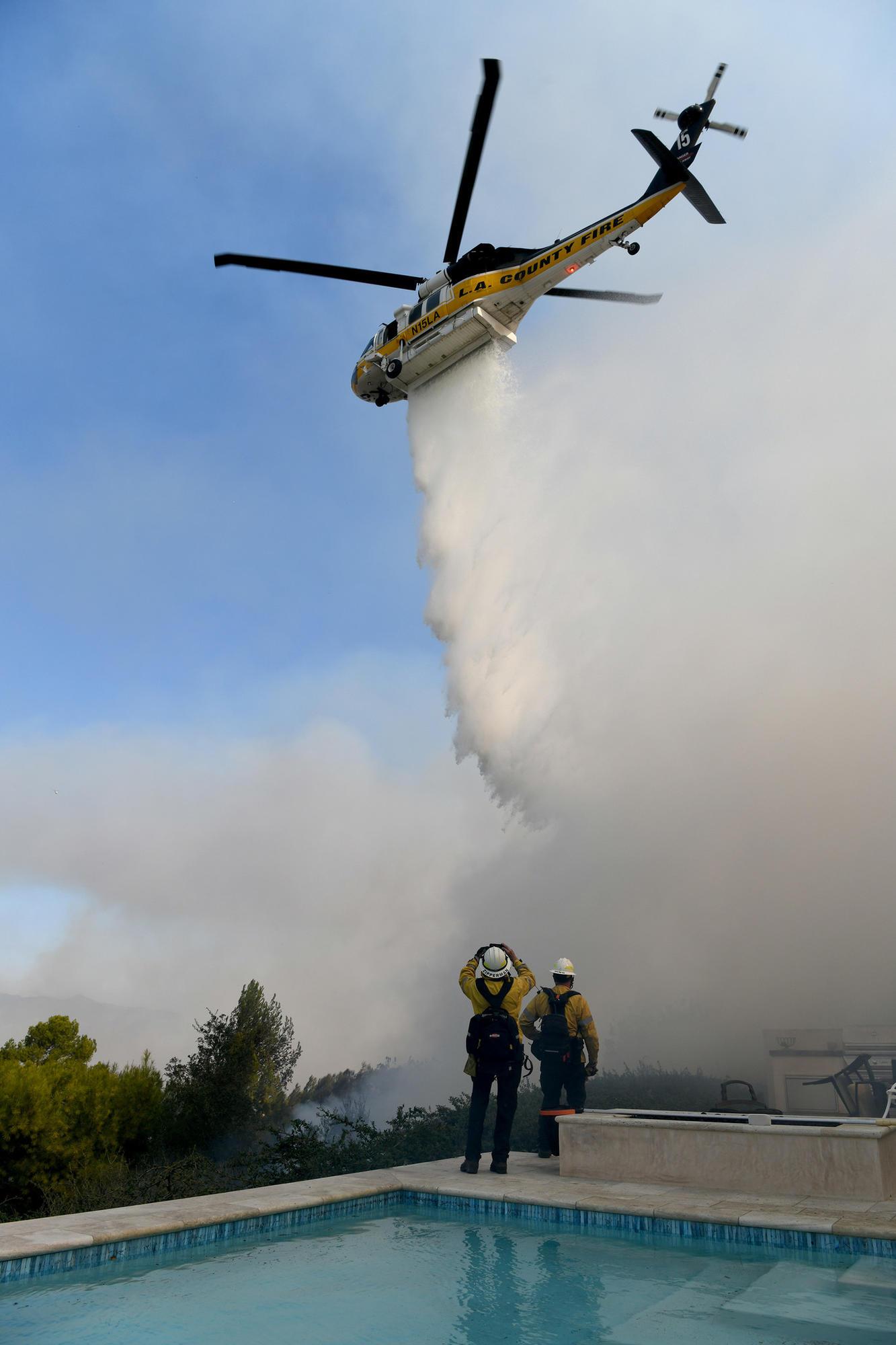 Woolsey fire in Westlake Village