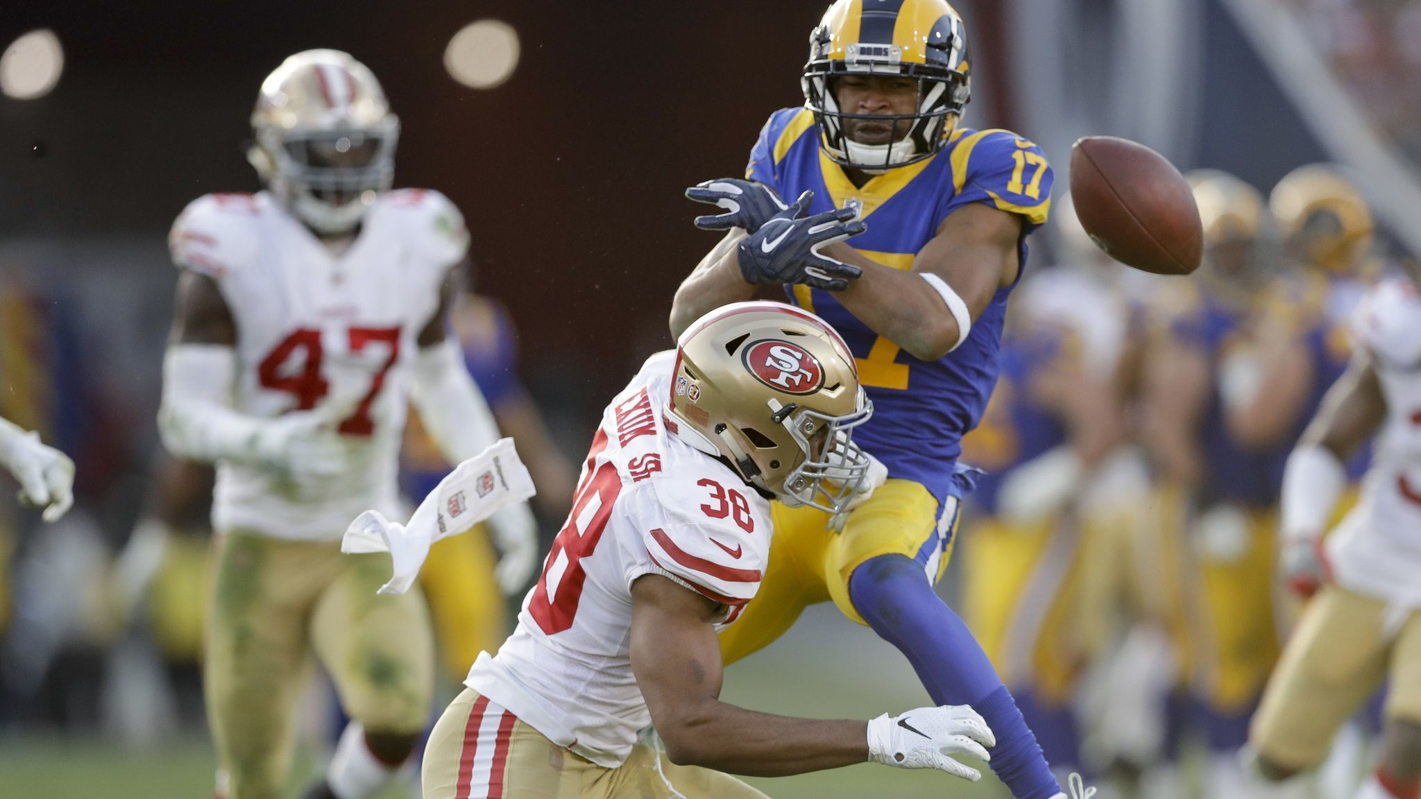 NFL notes: 49ers' Antone Exum Jr. fined $53,482 by NFL for hit on Rams' Robert Woods