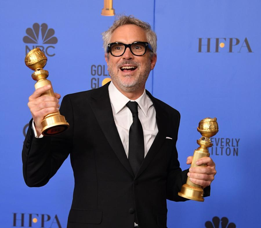 Backstage reaction: Is Netflix killing the movie theater? Don't tell Alfonso Cuarón that