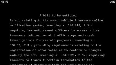 Read the bill proposing creation of an auto insurance database