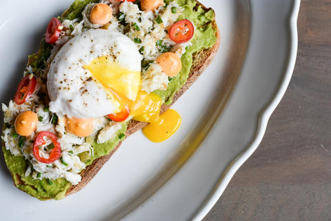 Crab Avocado Toast on the Sunday Brunch menu atFormento's, 925 W. Randolph St. in the West Loop.
