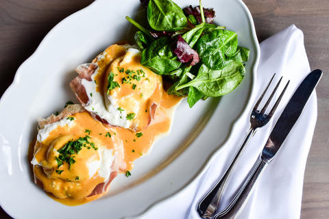 Prosciutto Benedict at Formento's, 925 W. Randolph in the West Loop. Formento's serves brunch Sundays from 10 a.m.-1 p.m.