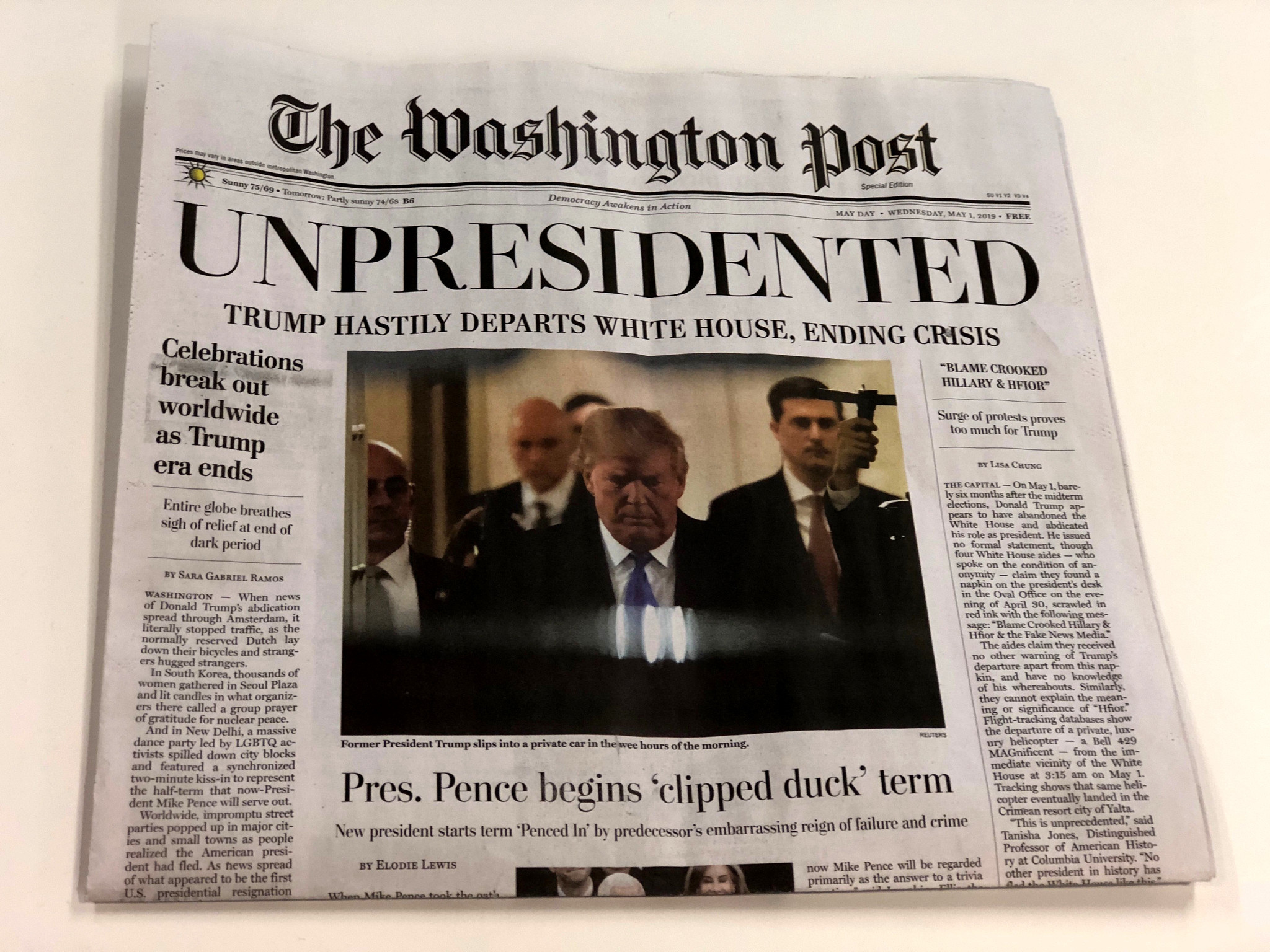 Fake editions of The Washington Post handed out at multiple locations in D.C.