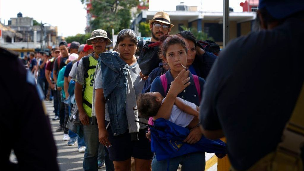 New Central American caravan met with warm response from Mexico   San Diego Union Tribune