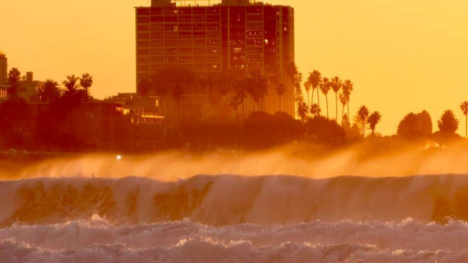 Waves could hit 14 feet, and the weather's warming up. What's not to like?   San Diego Union Tribune