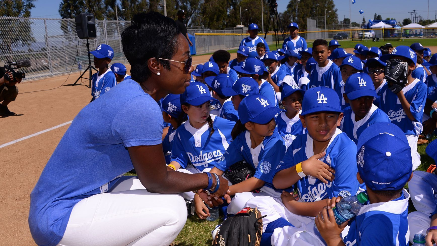 Onetime Jackie Robinson scholarship recipient Nichol Whiteman helped the Dodgers Foundation find its swing