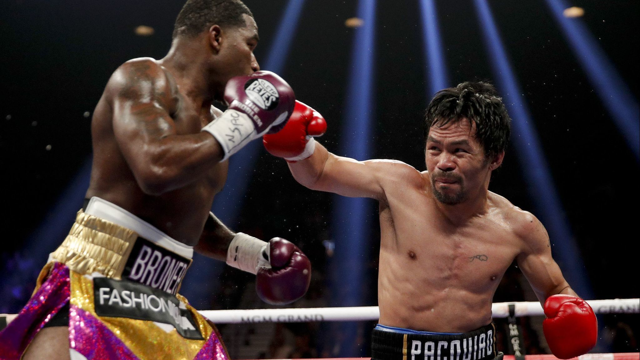 Manny Pacquiao defeats Adrien Broner to retain his welterweight belt, wants Floyd Mayweather