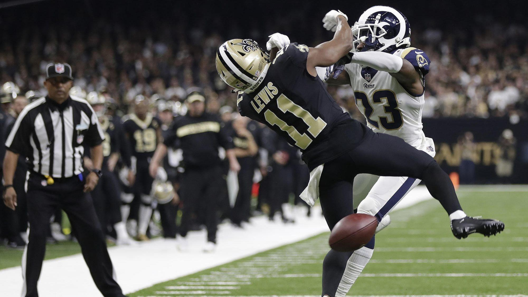 Image result for pass interference saints