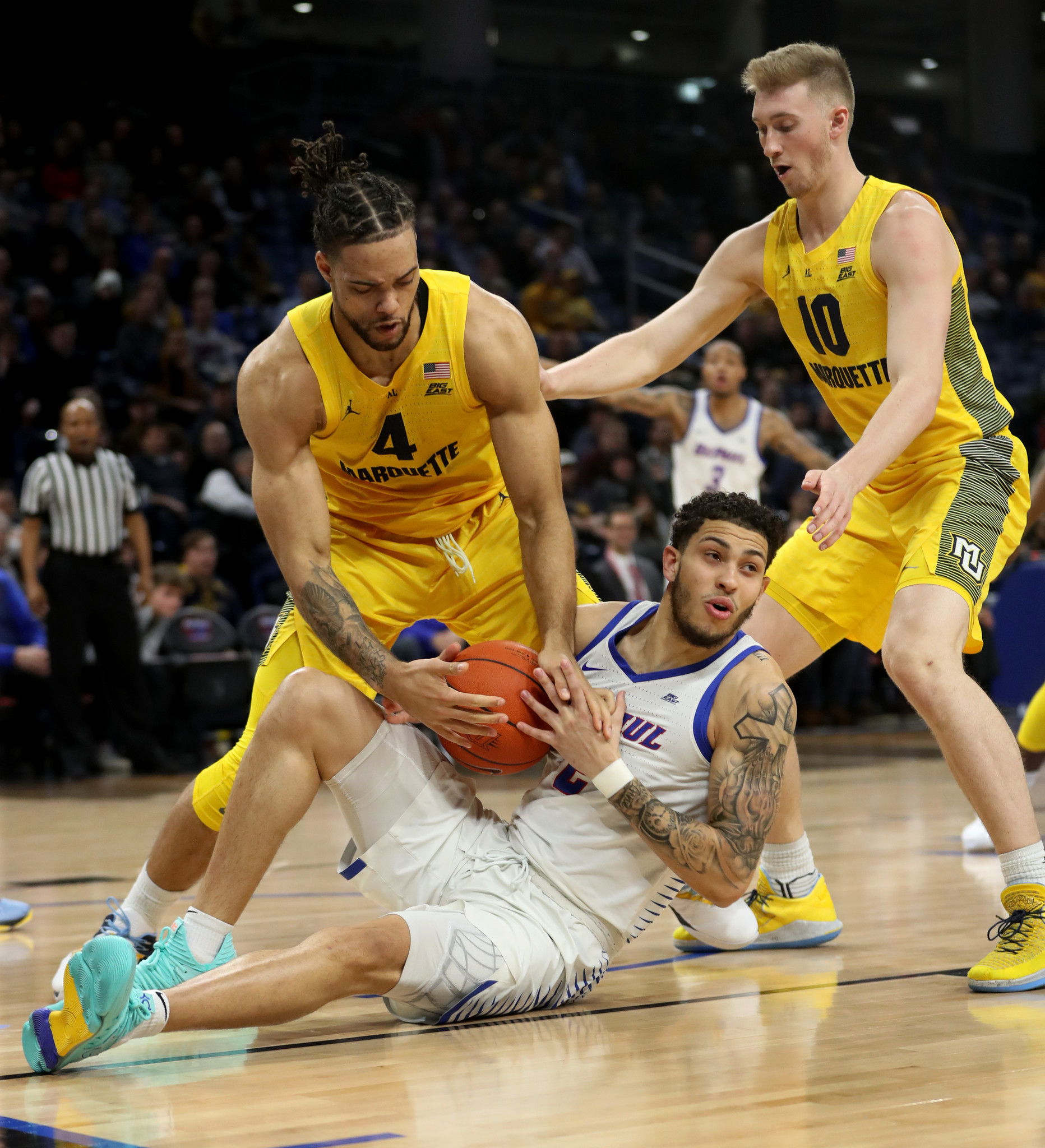 DePaul taking baby steps, but 92-73 loss to No. 10 Marquette shows there's still work to do