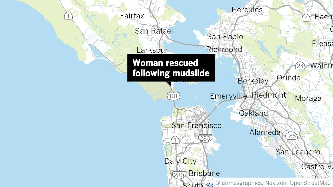 Woman pulled from wreckage of home hit by Marin County mudslide