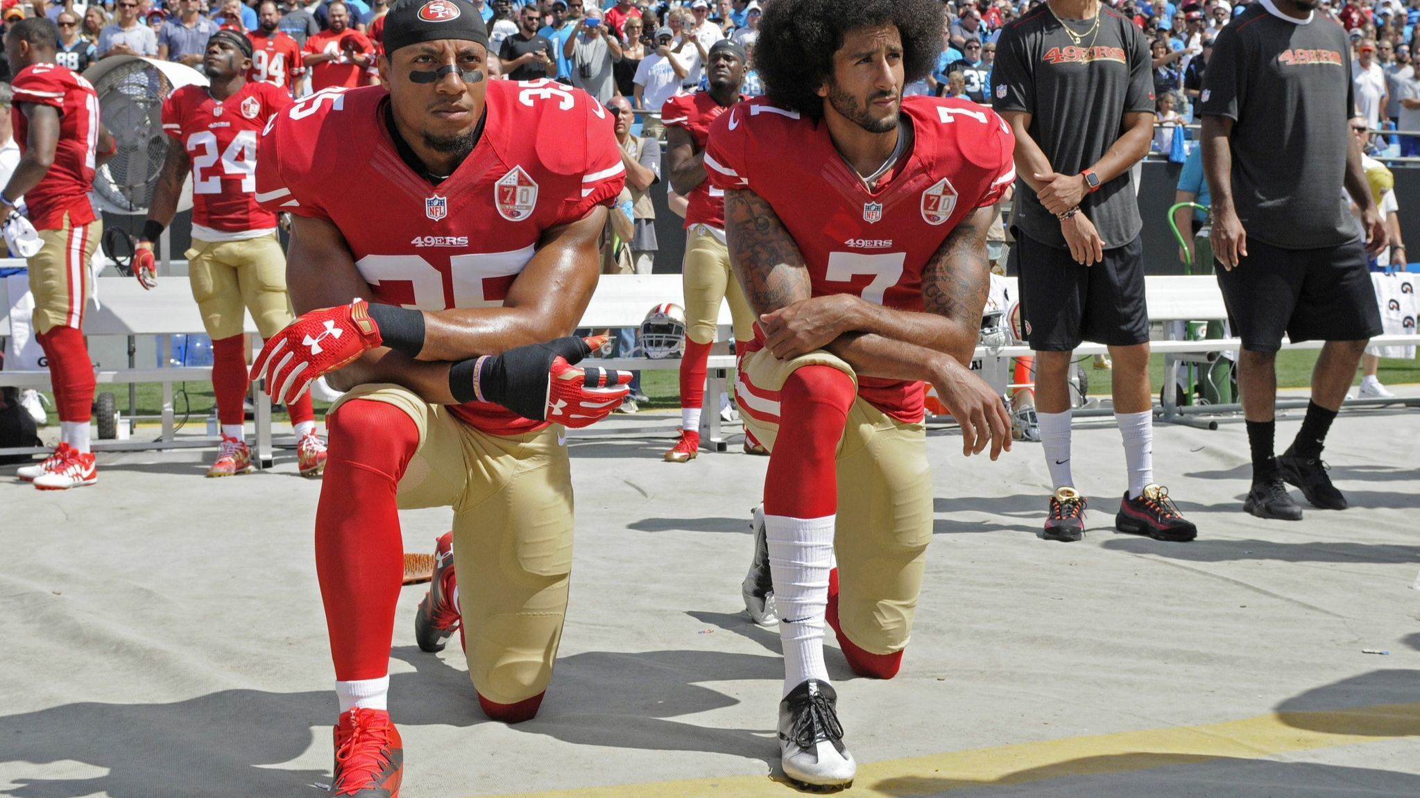 Colin Kaepernick and Eric Reid settle collusion lawsuits against the NFL