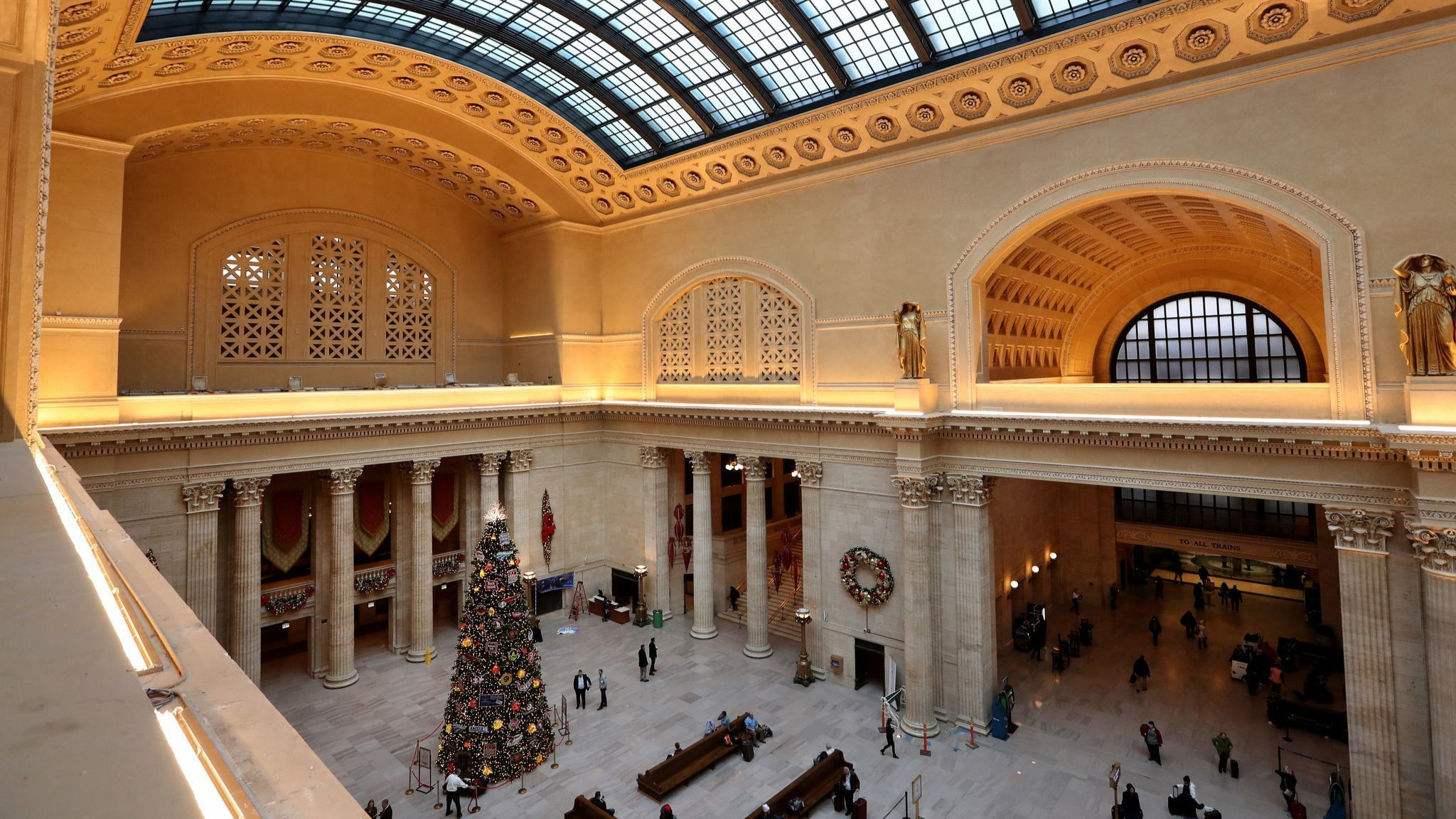 Why are they building a squash court in Union Station's Great Hall?