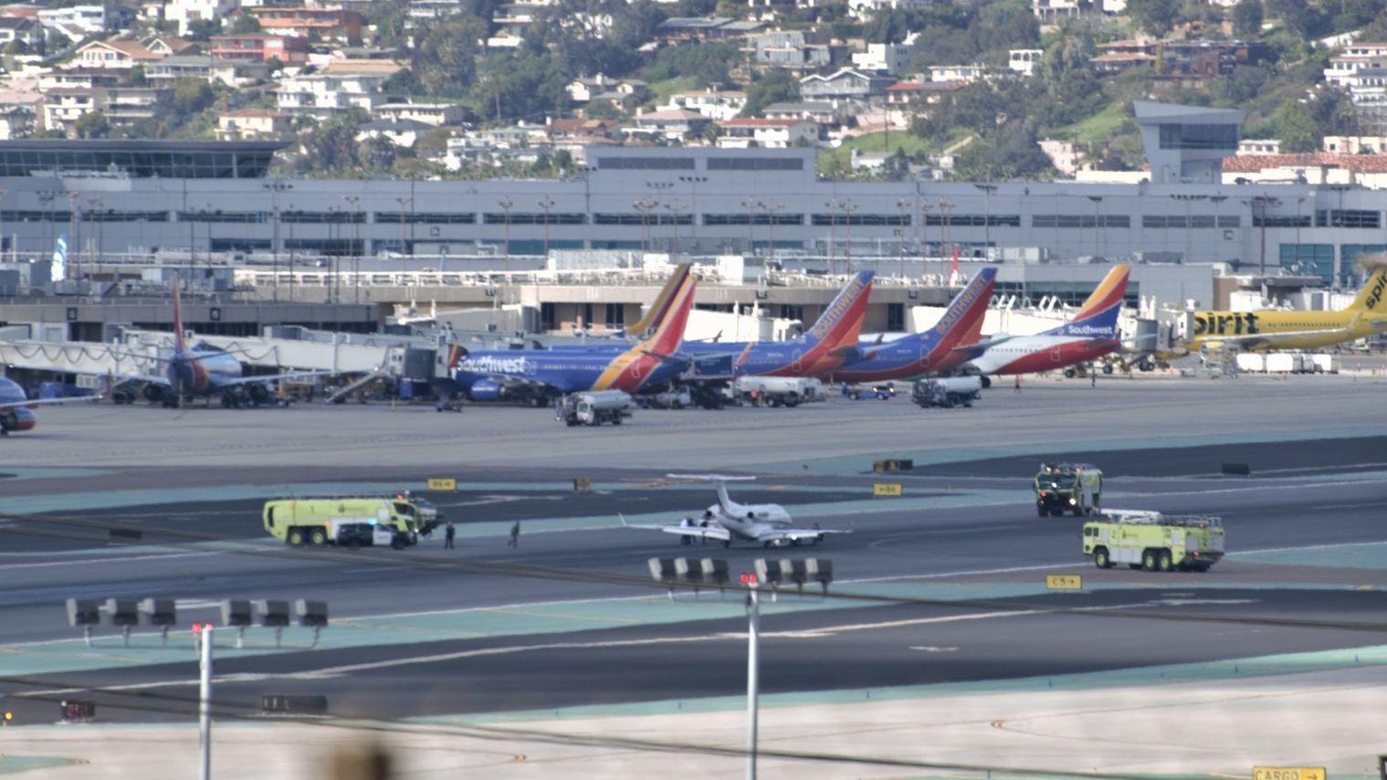 Emergency landing pauses traffic at SD International Airport