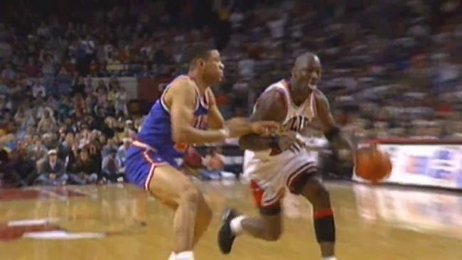 629039cf534d Memorial Day NBA Vault  Michael Jordan Scores 54 Points on the Knicks in  Game 4