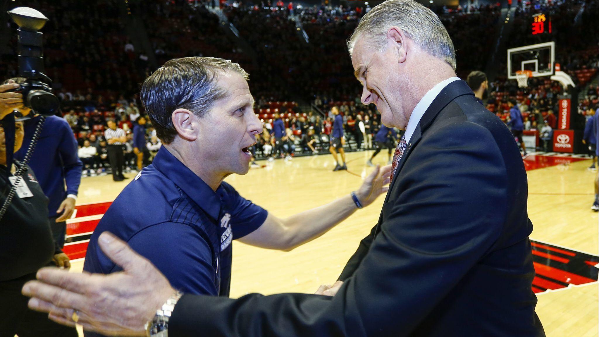 Like fathers, like sons: Aztecs' Dutcher & Nevada's Musselman grew up watching dads coach at Minnesota