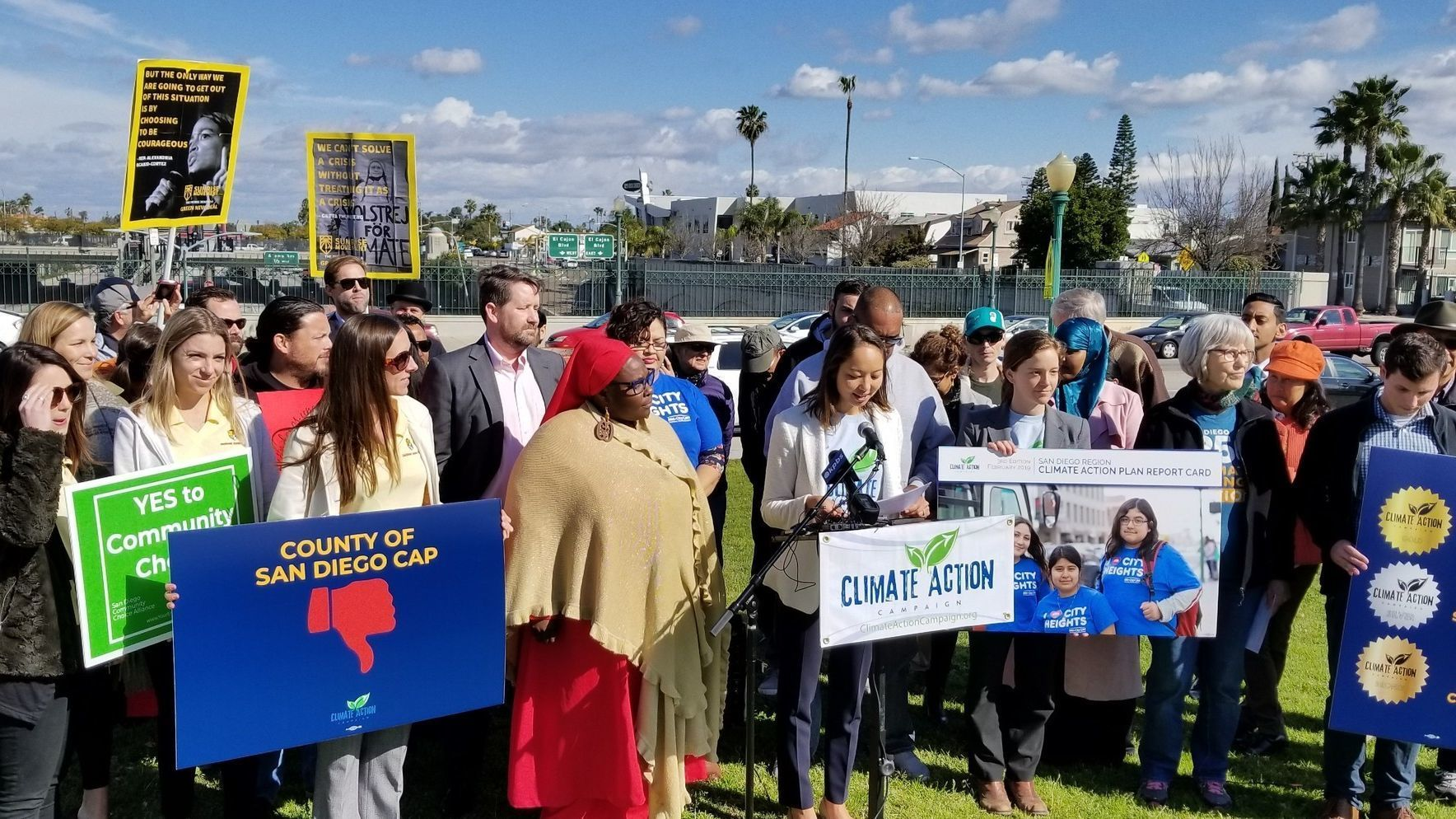 Climate activists call for San Diego Green New Deal, criticizing cities for not following through on climate-plan pledges