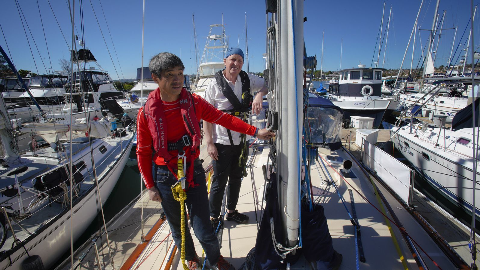 Five years after whale scuttled first attempt, blind sailor aims for nonstop Pacific crossing