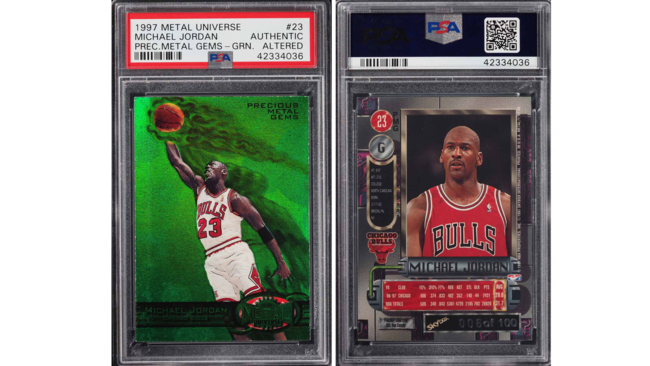 cce085afc57393 Holy grail  Michael Jordan card sells for  350