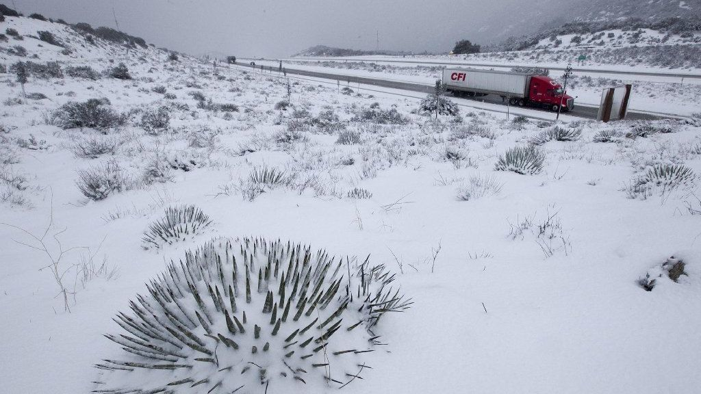 I-8 reopens in East County after closures because of ice, snow
