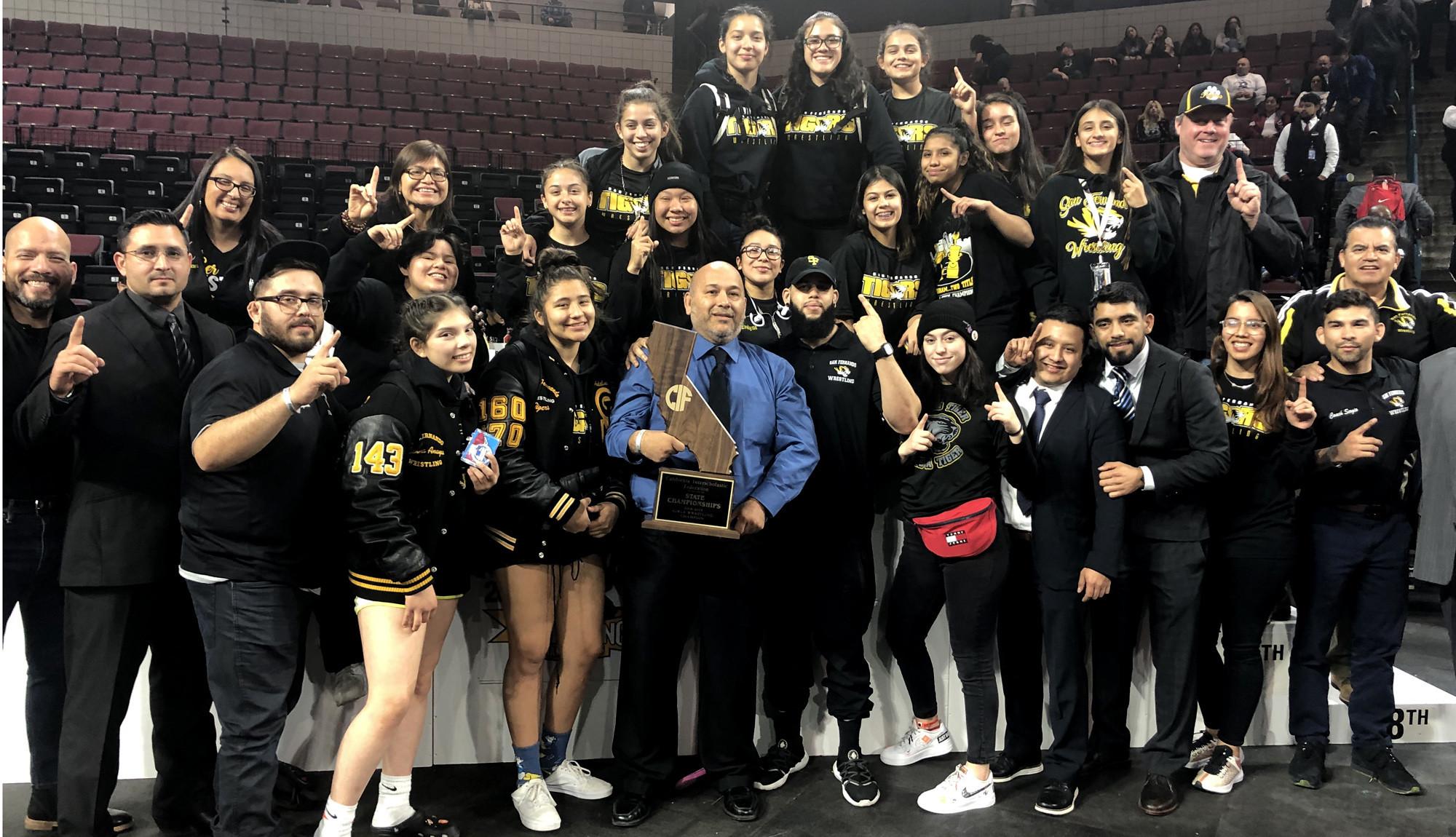 San Fernando wins girls' state championship in wrestling