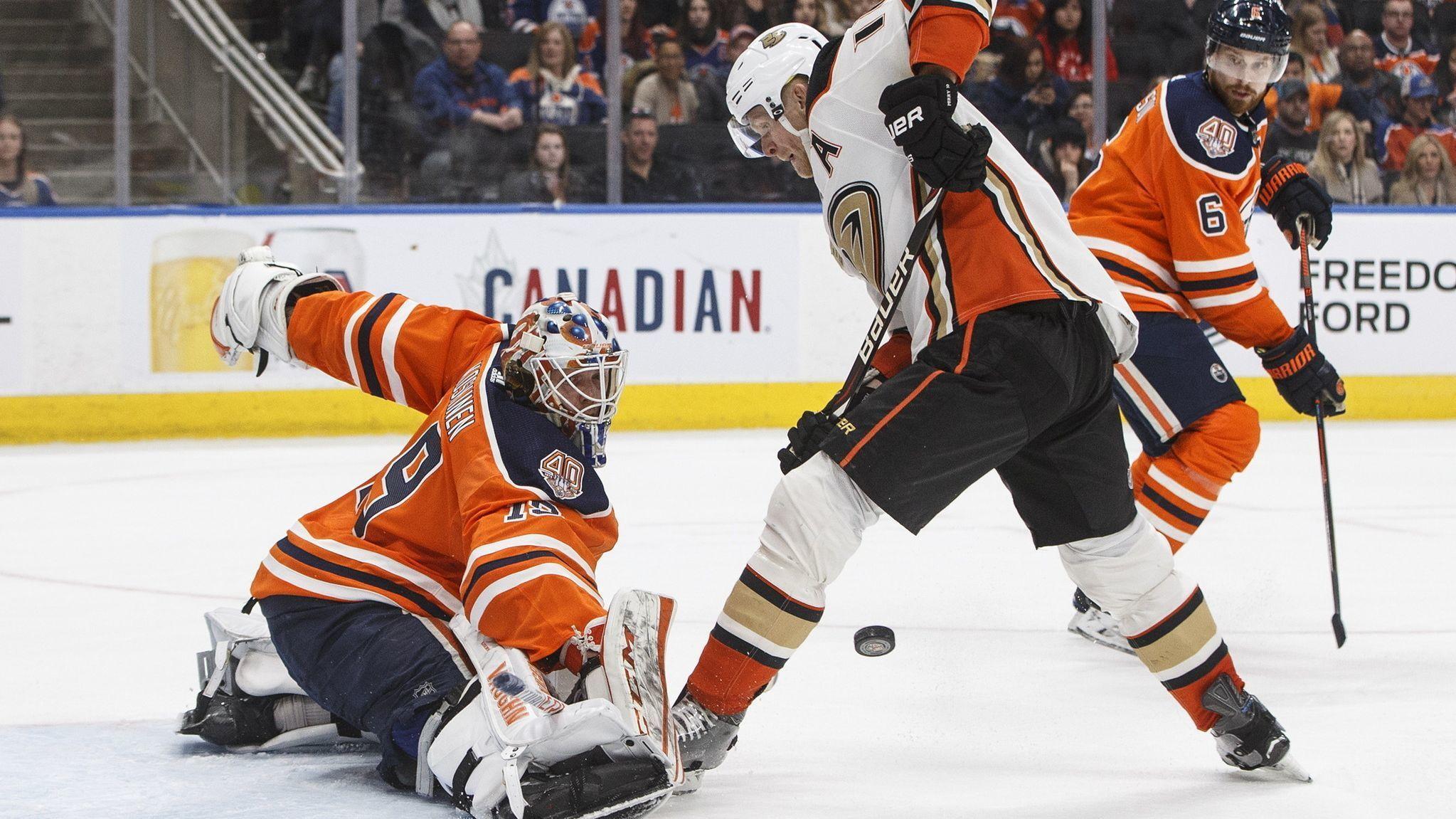 Oilers top Ducks 2-1