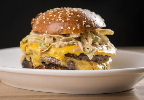 Smash burger atJoJo's Milk Bar, 23 W. Hubbard St. in River North in Chicago.