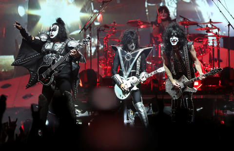 Kiss performs during their End of the Road tour at the United Center in Chicago, on Saturday, March 2, 2019.