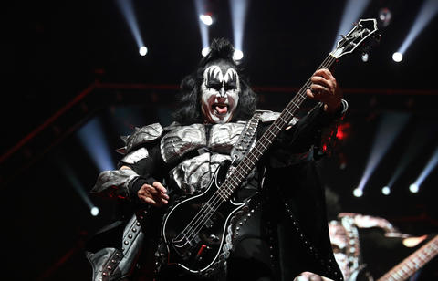 Gene Simmons leads Kiss during their End of the Road tour at the United Center in Chicago, on Saturday, March 2, 2019.