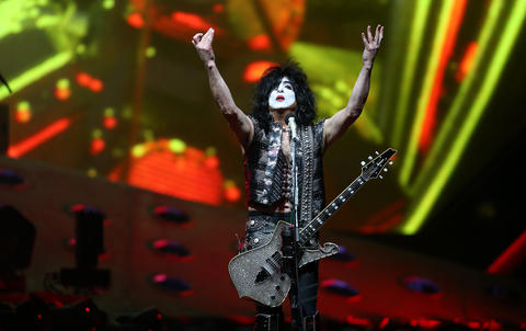 Paul Stanley leads Kiss during their End of the Road tour at the United Center in Chicago, on Saturday, March 2, 2019.