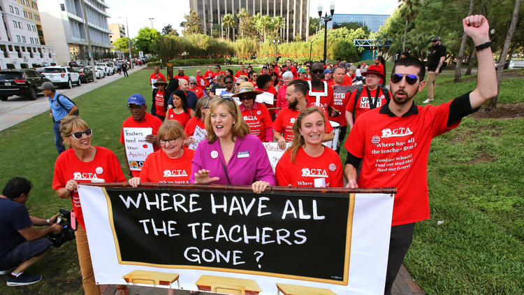 Pictures: Orange teachers join statewide march for school funding