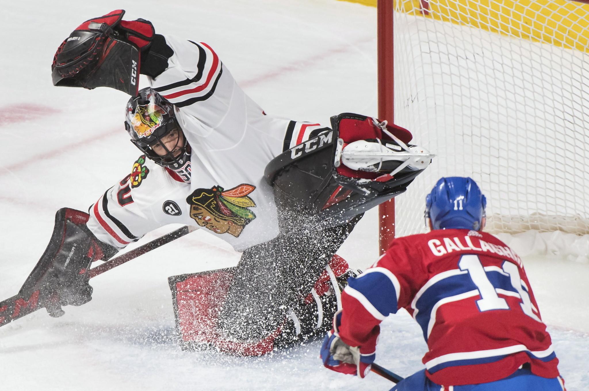 Blackhawks 2, Canadiens 0