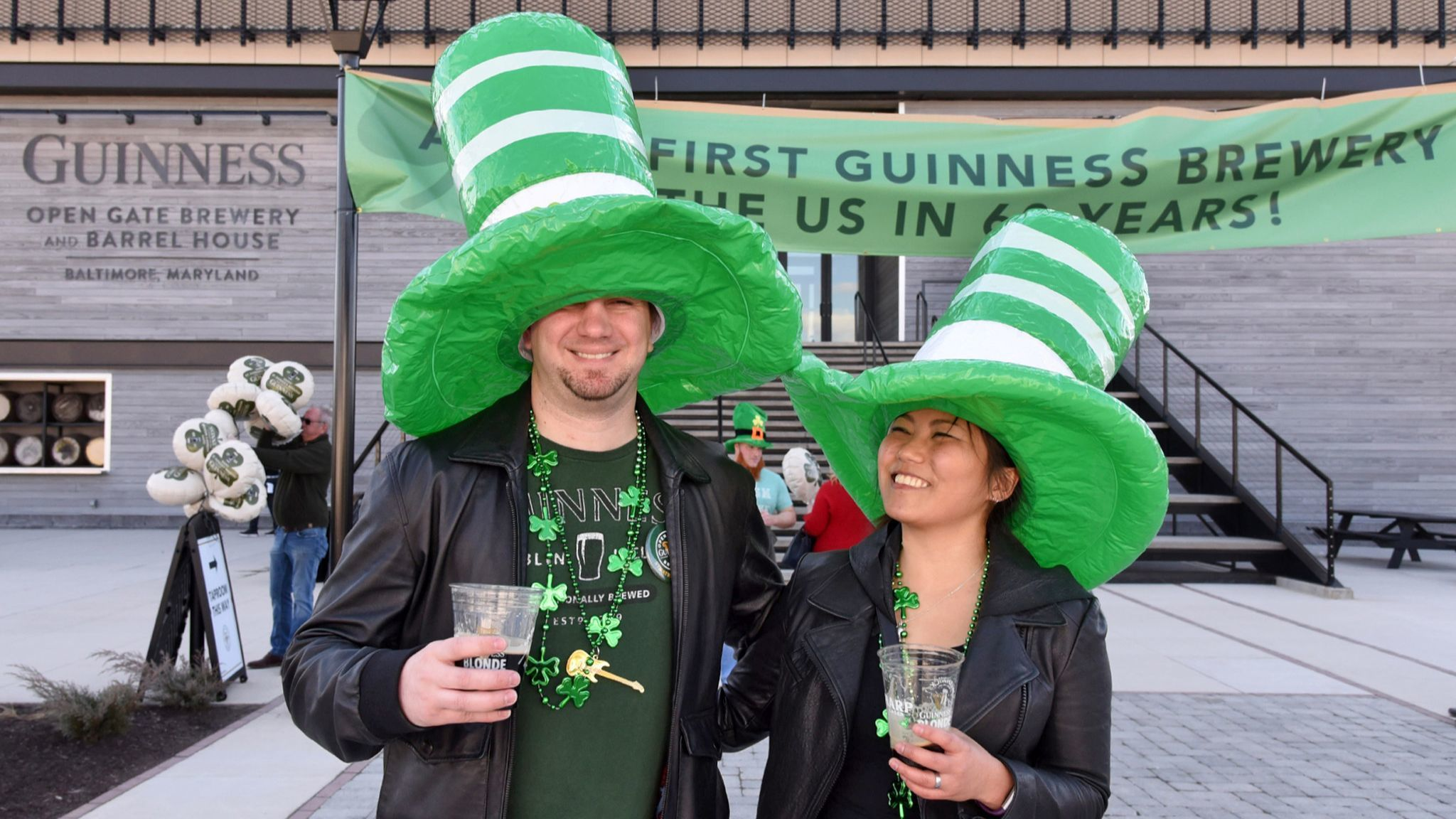 Thousands celebrate first St. Patrick's Day at the only U.S. Guinness brewery, in Halethorpe