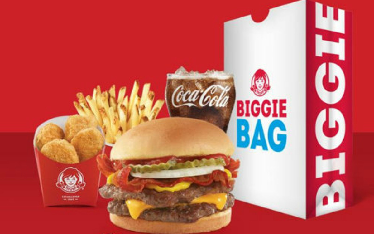 Free Biggie Bag including a Bacon Double Stack from Wendy's