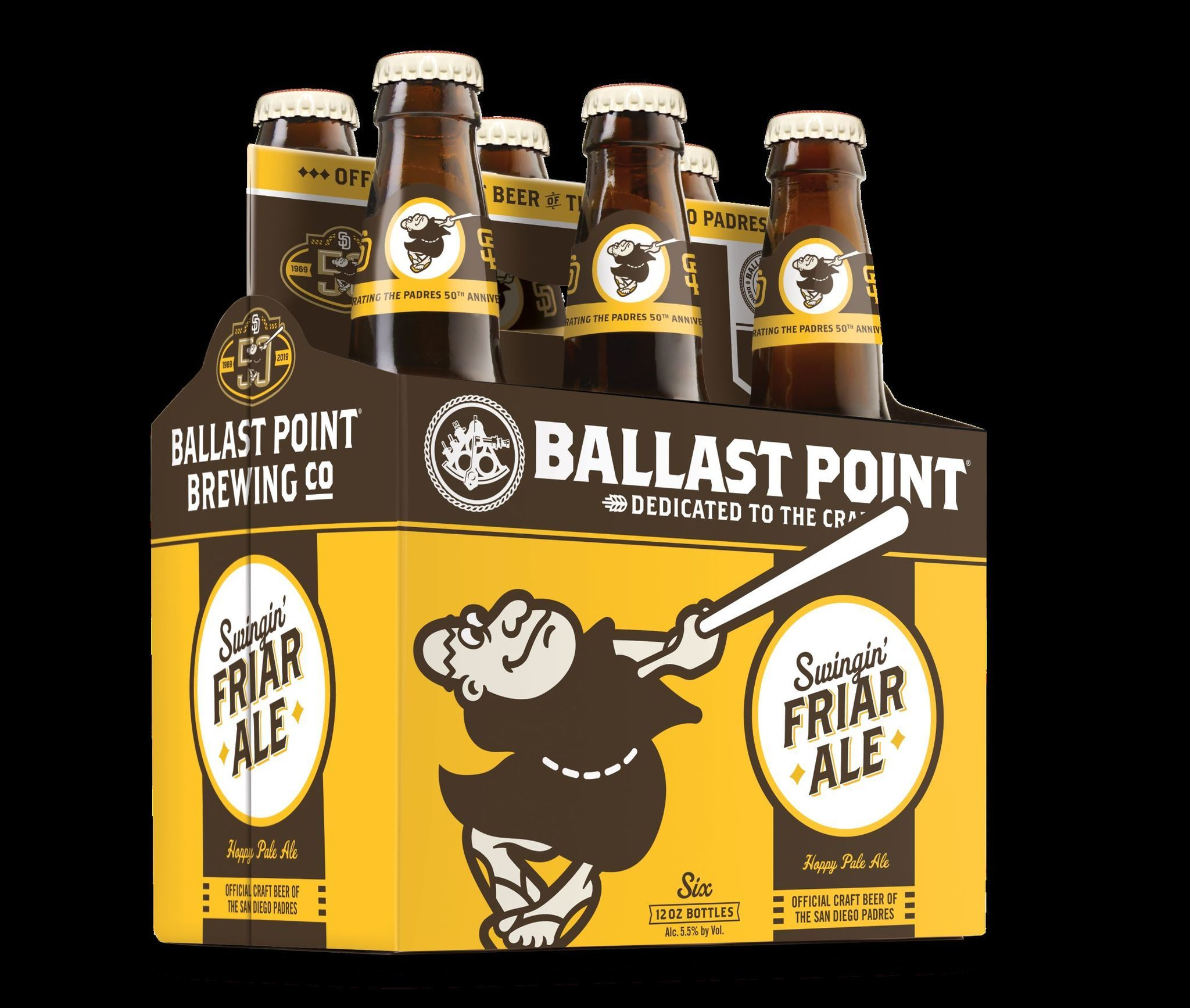 Padres and Ballast Point collaborate on Swingin' Friar Ale