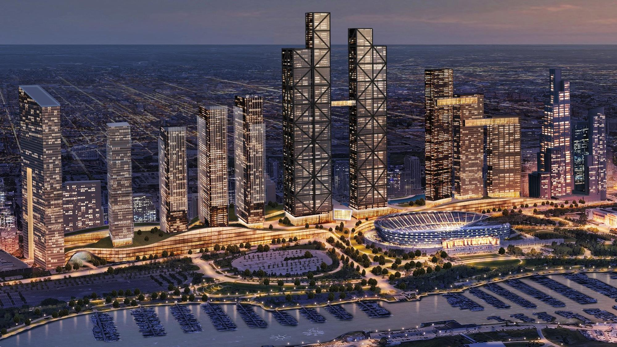 Changes sought for multibillion-dollar development proposed over train tracks near Soldier Field