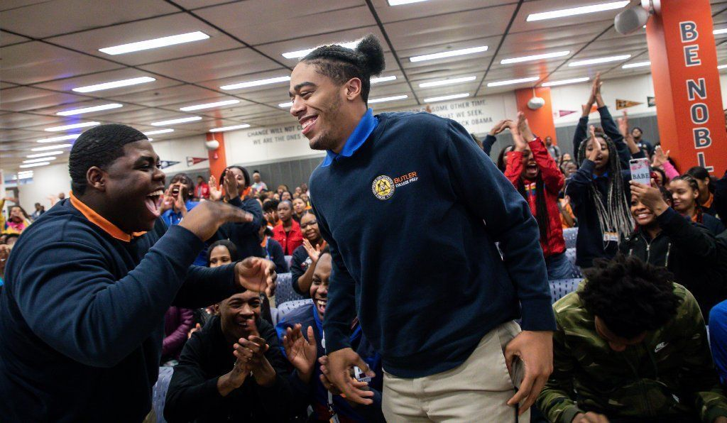 High schoolers surprised with UIC scholarships aimed at addressing lack of black male teachers